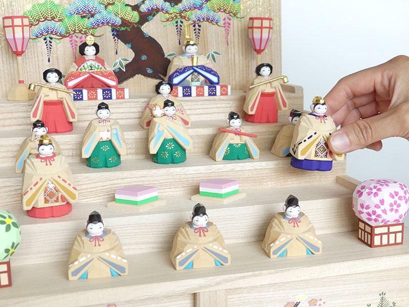 奈良一刀彫りの雛人形