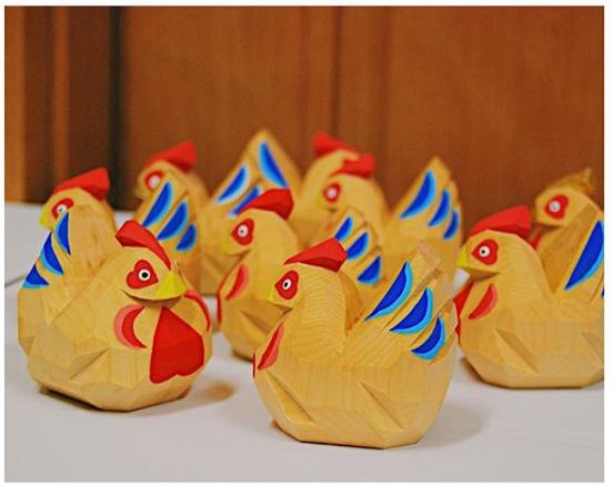 奈良一刀彫りの干支人形